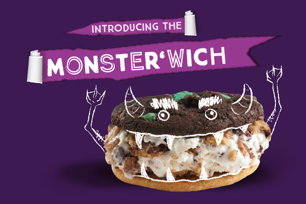 Insomnia Cookies Introduces the Monster'wich from CookieLab!