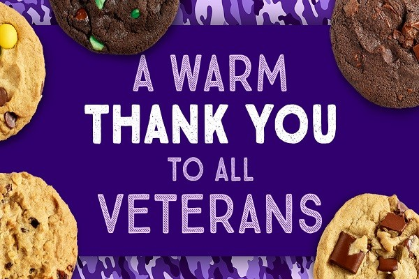 Insomnia Cookies to Offer Free Cookie All Week in Honor of Veterans Day